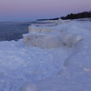Lk Superior ice floe from the seat of my sled